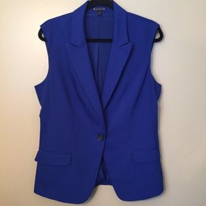 Express Vest Longline Cobalt Blue Suiting Large